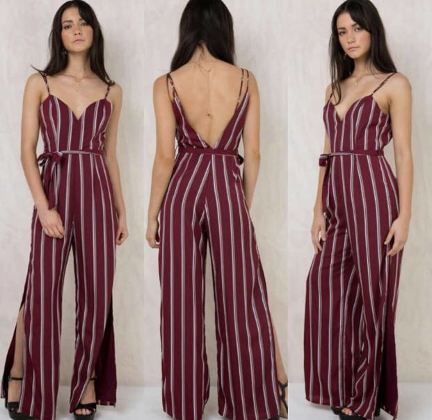 eb9549e0147 Stripes LowBack Jumpsuit