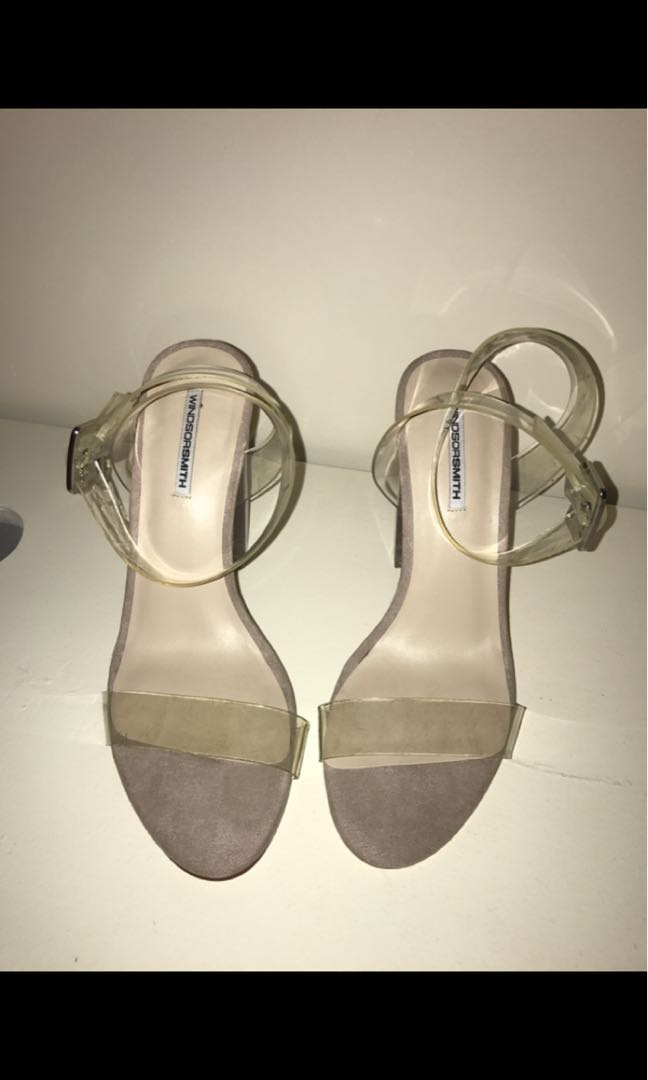 33ad90ed78e WINDSORSMITH GEMMA CLEAR HEELS. SIZE 10