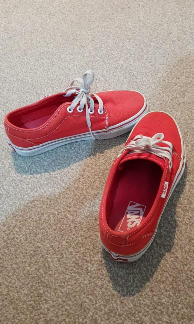 Women's size 7 red vans