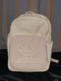 Adidas white fur backpack