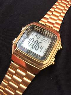 Casio Gold Watch Authentic Check pic first!!! NO ISSUE!!!