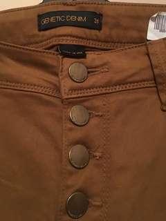 Genetic denim pants soft suede rrp$189