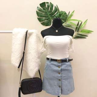 Abercrombie white off shoulder