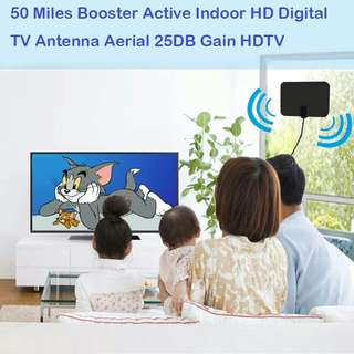 Spain Hot Sell Indoor HD Digital Amplifier TV Antenna 50 Miles Range