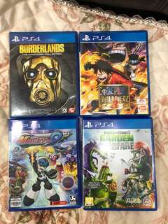 PS4 GAMES FOR SALE FOR TRADE BORDERLANDS, MIGHTY NO 9, ONE PIECE, PLANTS VS ZOMBIES GARDEN WARFARE