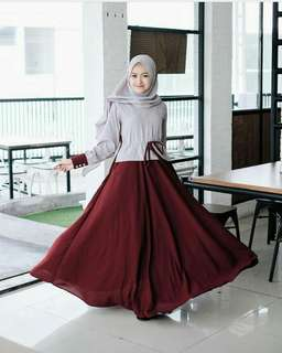 Sharani dress maroon