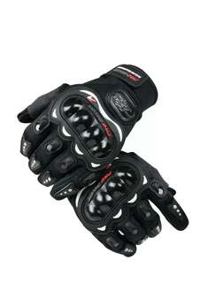 Carbon Fiber Pro-Biker Bicycle Motorcycle Escooter Racing Gloves XL