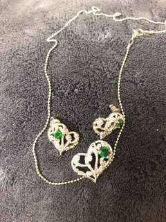 Rhinestone and silver plted