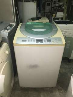 Used Panasonic washer 13.0kg washing machine mesin basuh fully auto stainless steel drum in good condition