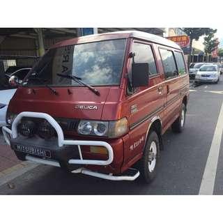 1998年三菱 DELICA 得利卡 2.4 柴油手排 4WD 四輪傳動 爬山 下海邊 首選