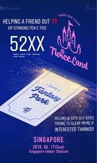 Twiceland2 Standing Pen C tickets ‼️