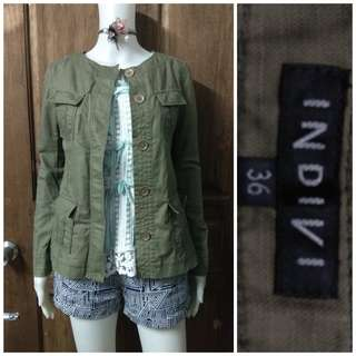 Indivi army green jacket
