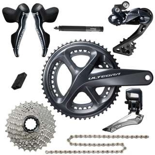 Shimano Ultegra R8050 Di2 11speed groupset complete without BB