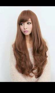 *Best selling😍'Preorder' Korean version Wavy curly side fringe hair wig * waiting time 15 days after payment is made *chat to buy to order