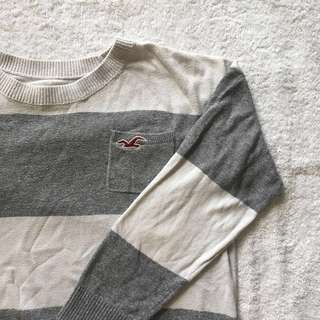 Hollister Striped Cropped Sweater