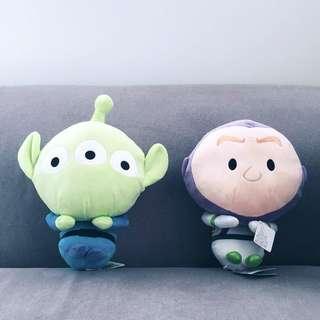 Disney Pixar Toy Story - Baby Buzz & Alien Laying Down Plushy