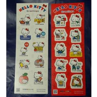 日本Hello Kitty郵票2款