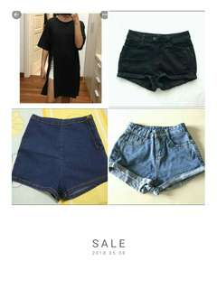 shorts & crop tops
