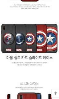 🇰🇷7月韓國代購🇰🇷 Captain America phone case 復仇者聯盟美國隊長多種型號電話殻 可放卡