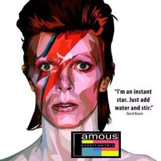 David Bowie PopArt! Portrait Wall Decoration