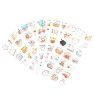 Washi Sticker Set (Snack) (Ref No.: 350)