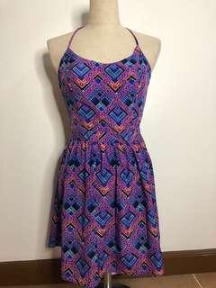 H&M goemetric backless dress