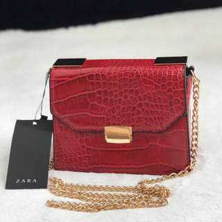 Zara Croco Red & Black