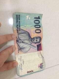 IDR 1000 uang kertas