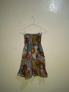 Fire Scrunch Tube Dress