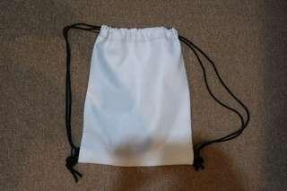 Drawstring bag (white)