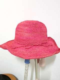 🚚 日式手工鉤拉拉小檐草帽漁夫帽可摺疊遮陽帽沙灘度假帽夏天旅遊帽