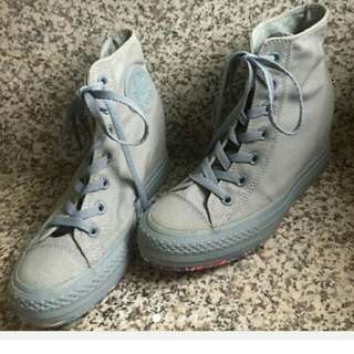 All Gray Converse Wedge
