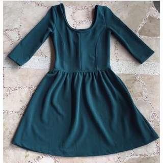 Bershka Green Dress