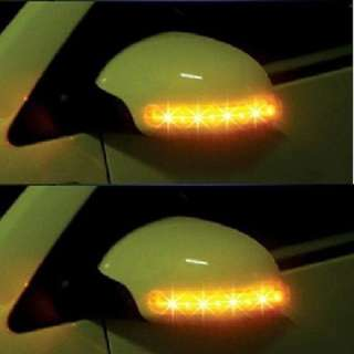 New Car 2x Amber SMD 13LED 12V Rearview Side Mirror Turn Signal Lights
