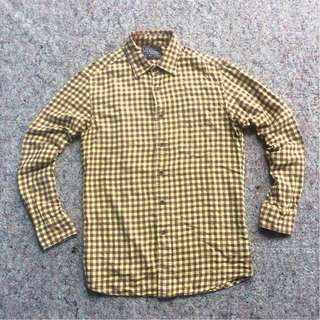 UNIQLO AUTHENTIC SHIRT FLANNEL SHIRT ORIGINAL WASH YELLOW