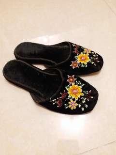 國產製串珠懷舊拖鞋