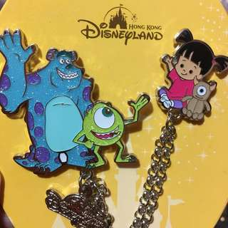 迪士尼 襟章 徽章 Disney pin Disneyland pins 怪獸公司 boo