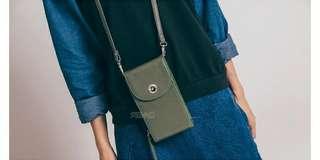🚚 簡約單扣手機包-軍綠