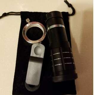 手提電話12倍長焦距望遠鏡頭 (送廣角鏡,魚眼鏡頭)