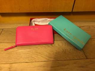 Kate Spade Pink Wallet 粉紅色 銀包 (100% Authentic 真)