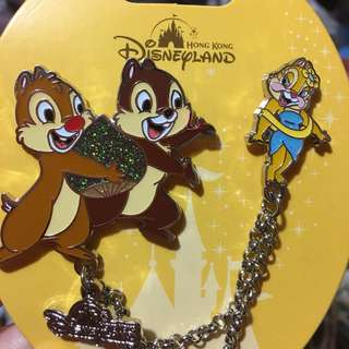 迪士尼 襟章 徽章 Disney pin Disneyland pins chip and dale