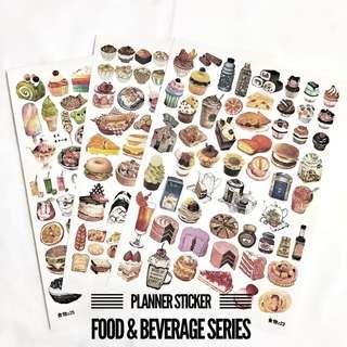 [Ready Stock] Planner Stickers - Food & Beverage Series (Uncut)