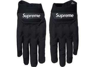 Authentic Supreme x Fox Racing Bomber LT Gloves Black