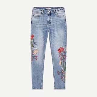 NEW Inspired Zara Embroidery Jeans