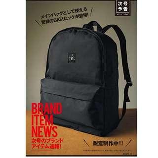 日本雜誌 smart 附贈 tk. TAKEO KIKUCHI 黑色 大容量 休閒後背包 雙肩包 肩背包 背包 書包