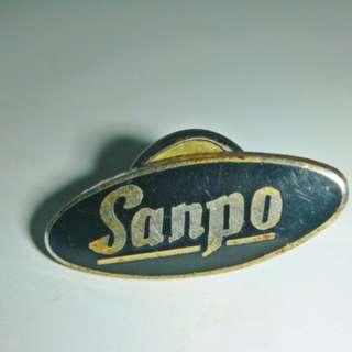 aaL皮商旋.已稍有年代少見Sanpo紀念章/徽章/勳章!--值得收藏!/@右/-P