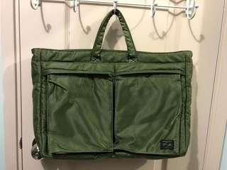 Porter Tokyo 2WAY BRIEF TOTE BAG (GREEN)