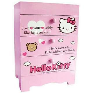 正版 三麗鷗 kitty收納盒