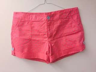 🚚 粉紅灰點短褲