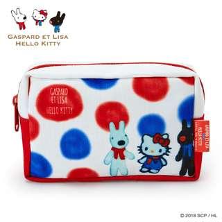 6a796a4ccbbd  PO  Sanrio Japan Hello Kitty x Gaspard Et Lisa Pouch Tricolor